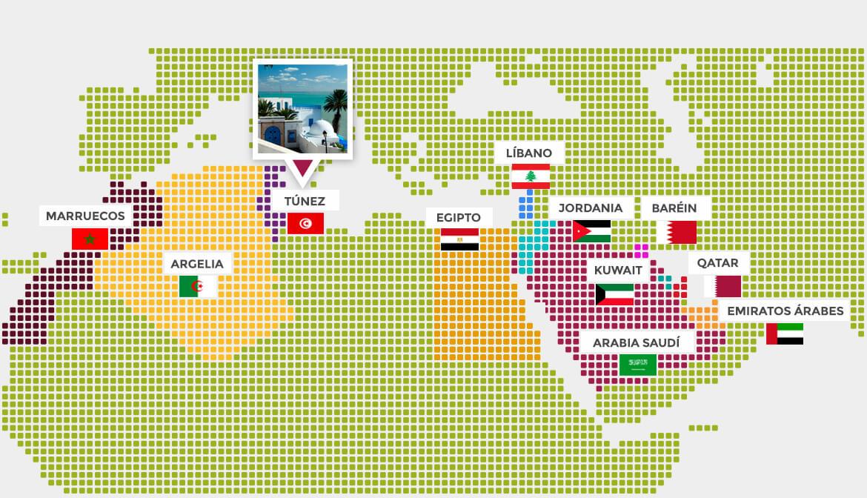 mapa elije pais